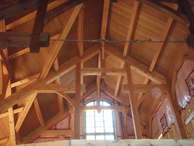 Timber Frame Home Ceiling Detail Canmore Canada